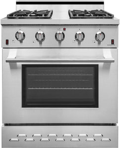 "NXR 30"" 4.5 cu.ft. Pro-Style Natural Gas Range with Convection Oven in Stainless Steel, SC3055"