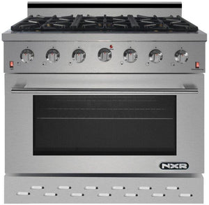 "NXR 36"" 5.5 cu.ft. Pro-Style Propane Gas Range with Convection Oven in Stainless Steel, SC3611LP"