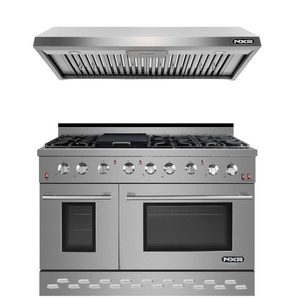 "NXR 48"" Natural Gas Range and Under Cabinet Range Hood Package, SC4811EHBD"