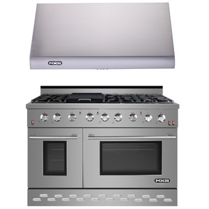 "NXR 48"" Natural Gas Range and Under Cabinet Range Hood Package, SC4811RHBD"