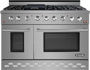 "NXR 48"" 7.2 cu.ft. Pro-Style Propane Gas Range with Convection Oven in Stainless Steel, SC4811LP"