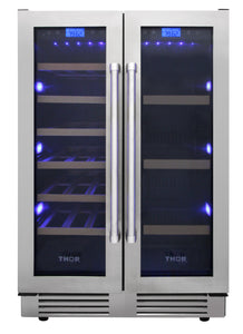 Thor Kitchen 24 in. 21-Bottles and 95-Can Wine Cooler, TBC2401DI