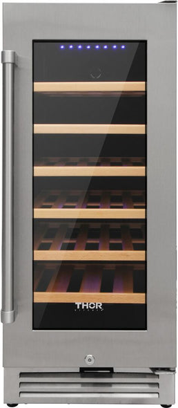 Thor Kitchen 18 in. 40-Bottle Single Zone Built-in Wine Cooler, HWC2405U