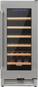 "Thor Kitchen 15"" 33 Bottle Wine Cooler, TWC1501"