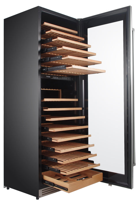 "Thor Kitchen 24"" 162 Bottle Dual Zone Wine Cooler, TWC2403DI"
