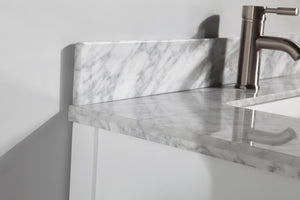 "Vanity Art 36"" Single Sink Vanity in Carrara Marble & Mirror - White, VA2036-W test"