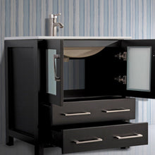 "Vanity Art 30"" Single Sink Vanity Cabinet with Ceramic Sink & Mirror - Espresso, VA3030E"