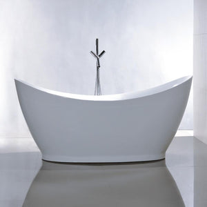 "VA6513 67.5"" x 31.5"" Freestanding Soaking Bathtub"