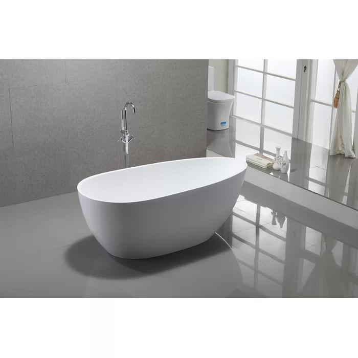 "VA6515-L 67"" x 31.5"" Freestanding Soaking Bathtub"
