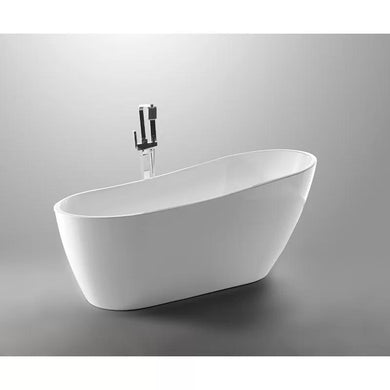 "VA6522-S Acrylic 55"" x 28"" Freestanding Soaking Bathtub"