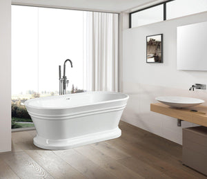 "VA6610 59"" x 30"" Freestanding Soaking Bathtub"
