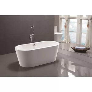 "VA6812-S 59"" x 29.5"" Freestanding Soaking Bathtub test"