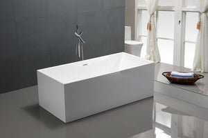 "VA6813B-L 66.5"" x 31.5"" Freestanding Soaking Bathtub test"