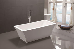 "VA6817 59"" x 29.5"" Freestanding Soaking Bathtub test"