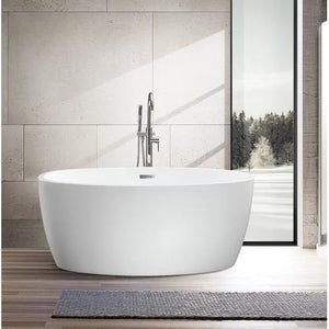 "VA6834-S 55"" x 32"" Freestanding Soaking Bathtub"