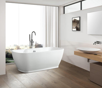 "VA6835 59"" x 30"" Freestanding Soaking Bathtub"