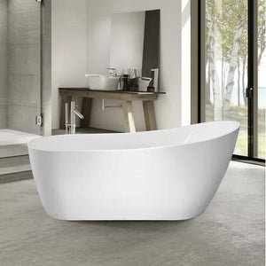 "VA6904-L Acrylic 67"" x 29"" Freestanding Soaking Bathtub test"