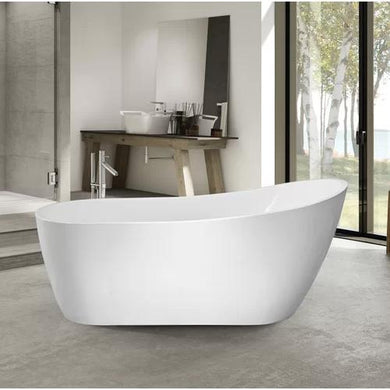 "VA6904-S Acrylic 59"" x 29"" Freestanding Soaking Bathtub"