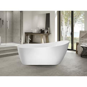 "VA6904-S Acrylic 59"" x 29"" Freestanding Soaking Bathtub test"