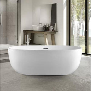"VA6906-L Acrylic 67"" x 32"" Freestanding Soaking Bathtub"