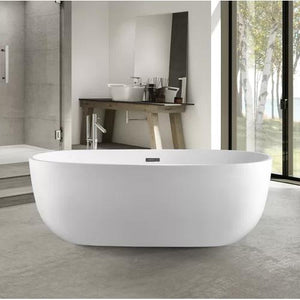 "VA6906-S Acrylic 59"" x 29"" Freestanding Soaking Bathtub"