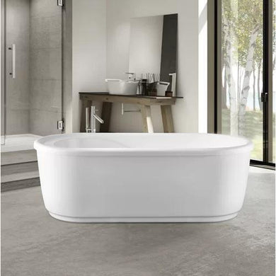 "VA6909-S Acrylic 59"" x 30"" Freestanding Soaking Bathtub"