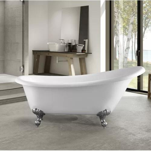 "VA6910 Acrylic 67"" x 30"" Freestanding Soaking Bathtub"
