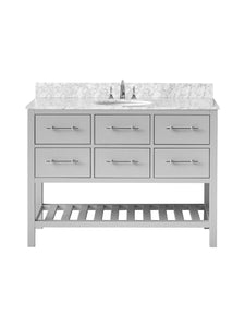 "Vanity By Design - Newberry 48"" Single Bathroom Vanity Set in Hampton Gray, VANNEWGRY48S"