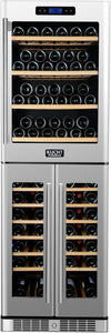 "Kucht 24"" 121 Bottle Triple Zone Wine Cooler, K430AVH33"