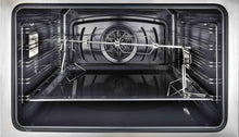 "ILVE 36"" Majestic II Series Electric Induction and Electric Oven Range with 5 Elements in Glossy Black with Brass Trim, UMI09NS3BKG"