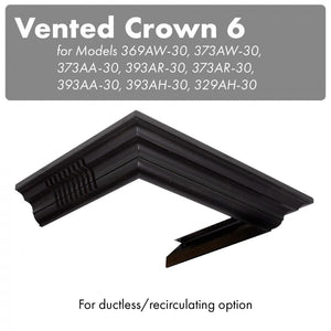 ZLINE Vented Crown Molding for Wall Mount Range Hood, CM6V-300A test