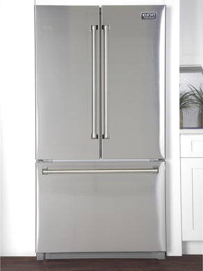 "Kucht Professional 36"" 26.1 cu. ft. French Door Refrigerator in Stainless Steel, K748FDS"