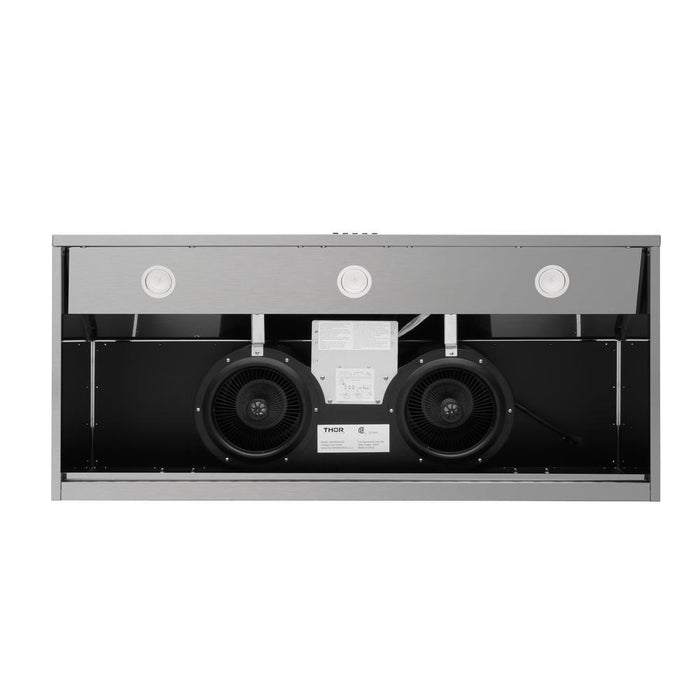 Thor Kitchen 48 in. Undercabinet Range Hood in Black Stainless Steel, HRH4809BS