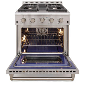 "Kucht Professional 30"" 4.2 cu ft. Propane Gas Range with Tuxedo Black Knobs, KRG3080U/LP-K test"