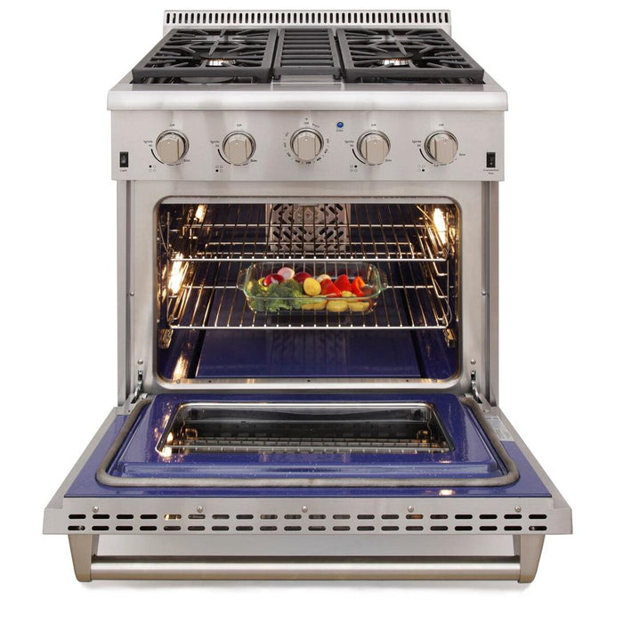 "Kucht Professional 30"" 4.2 cu ft. Propane Gas Range with Silver Knobs, KRG3080U/LP-S"