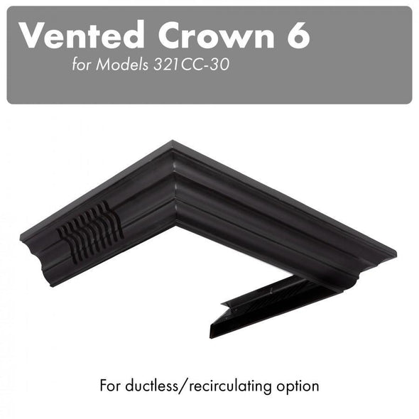 ZLINE Vented Crown Molding for Wall Mount Range Hood, CM6V-300C