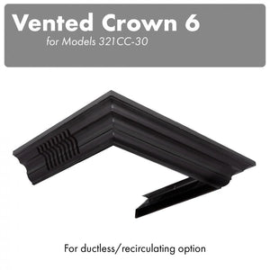 ZLINE Vented Crown Molding for Wall Mount Range Hood, CM6V-300C test