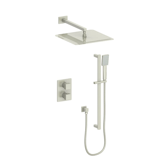 ZLINE Crystal Bay Thermostatic Shower System in Brushed Nickel, CBY-SHS-T2-BN