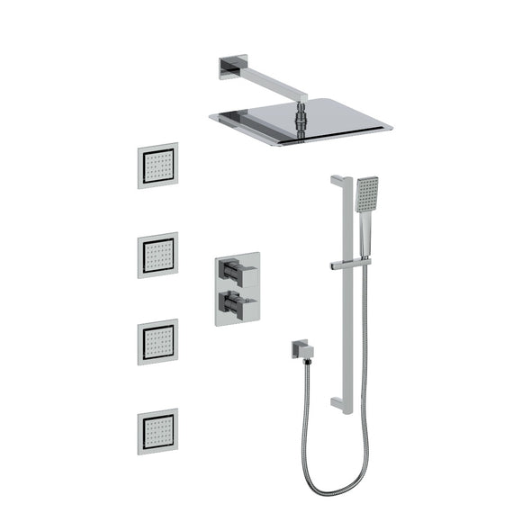 ZLINE Crystal Bay Thermostatic Shower System in Chrome, CBY-SHS-T3-CH