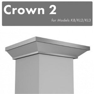 ZLINE Crown Molding #2 for Wall Range Hood (CM2-KB/KL2/KL3)