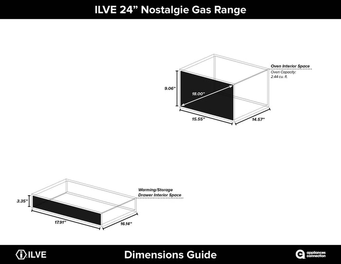 "ILVE 24"" Nostalgie Series Single Oven Propane Gas Burner and Oven in White with Brass Trim, UPN60DVGGBLP"