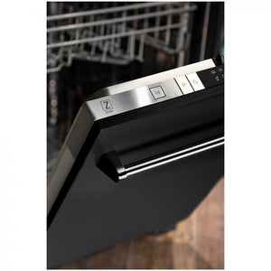 "ZLINE 24"" Top Control Dishwasher in Black Matte with Stainless Steel Tub, DW-BLM-24 test"