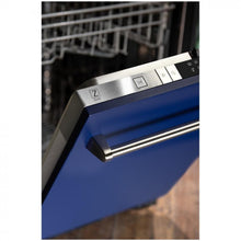 "ZLINE 24"" Top Control Dishwasher in Blue Matte with Stainless Steel Tub, DW-BM-24"