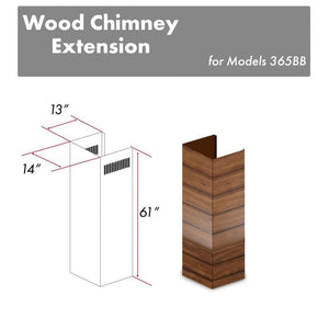 "ZLINE 61"" Wooden Chimney Extension for Ceilings up to 12.5 ft, 365BB-E test"
