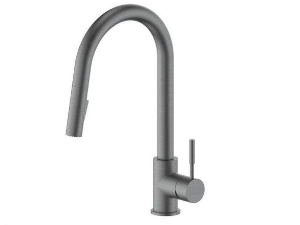 ZLINE Gemini Kitchen Faucet in Black Stainless, GEM-KF-GM