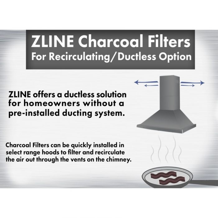 ZLINE 1 Set Charcoal Filters (CF1-587/597/9597) for Range Hoods w/ Recirculating Option