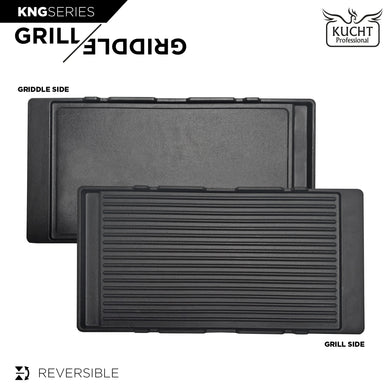 Kucht Reversible Cast Iron Griddle, KNG-GR