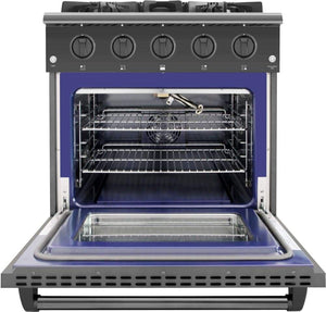 Thor Kitchen 30 in. 4.2 cu. ft. Single Oven Gas Range in Black Stainless Steel, HRG3080BS test