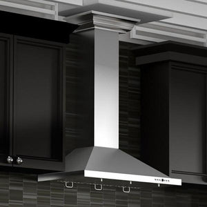 "ZLINE 42"" Stainless Steel Wall Range Hood, Crown Molding, KBCRN-42 test"