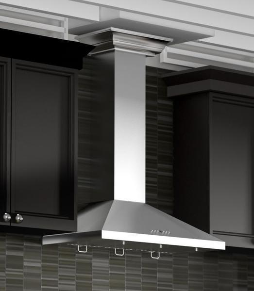 "ZLINE 30"" Stainless Steel Indoor Wall Range Hood, Crown Molding, KL2CRN-30"